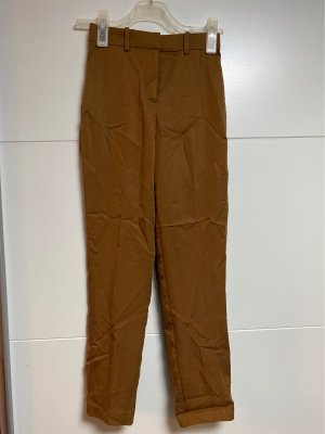 H&M Spodnie garniturowe brąz-brązowy