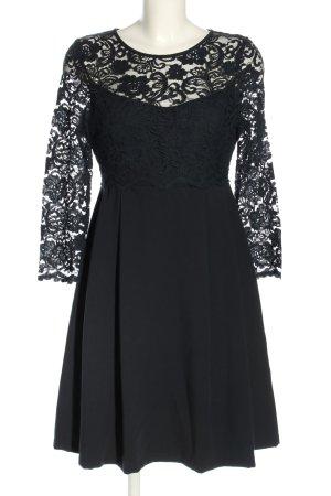 Slacks & Co. London Spitzenkleid schwarz Blumenmuster Elegant