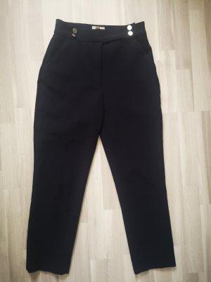 H&M Pantalon taille haute bleu