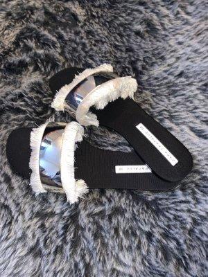 Zara Sandalias de playa negro-crema