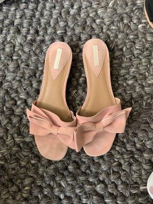 H&M Sandalo Dianette rosa pallido-rosa Pelle