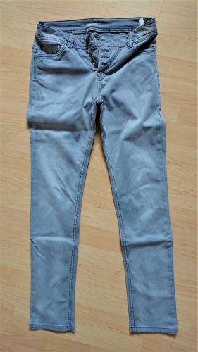 Takko Jeans slim fit grigio chiaro Cotone
