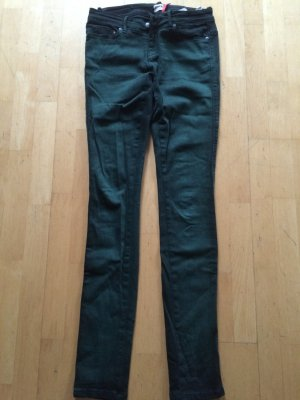 Slim Fit Hose - ONLY - Flaschengrün mit used Look - TOLL