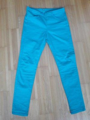 Slim Fit Jeans in Türkis