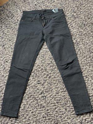 Slim Fit Jeans von Zara in Schwarz