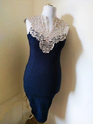 AX Paris Sukienka bez ramiączek czarny-jasnobeżowy