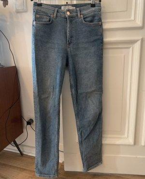 & other stories Jeans taille haute bleu acier