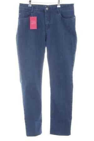 Slim Jeans dunkelblau-stahlblau Casual-Look