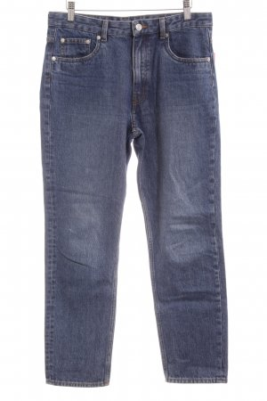 Slim Jeans dunkelblau Vintage-Look