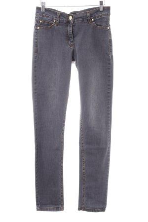 Slim Jeans grau-dunkelorange Casual-Look