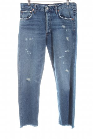 Slim Jeans graublau Destroy-Optik