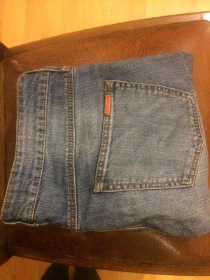 Mango High Waist Jeans steel blue