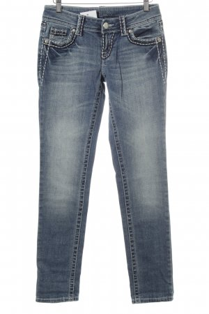 Slim Jeans stahlblau Casual-Look