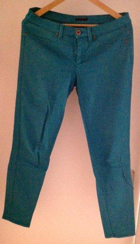 Slim Jeans Türkises Blau / Petrol