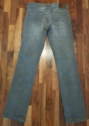 Slim Jeans von MNG, Größe 38, straight leg, low waist, grau