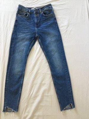 Zara Basic Vaquero slim azul pálido
