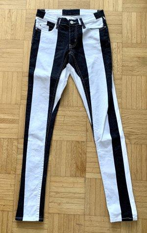 Jeans slim fit bianco-nero