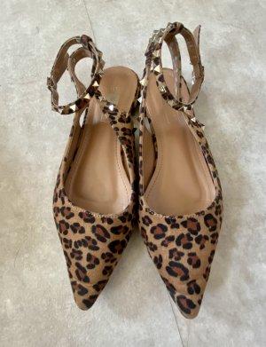 Lucky Shoes Baleriny z paskiem za piętą Wielokolorowy