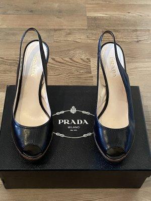 Sling Peeptoes Prada Gr.38,5