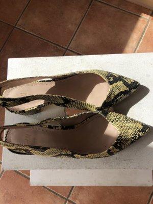 Hennes & Mauritz Tacones sin talón negro-amarillo