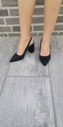 Lucky Shoes Escarpin à bride arrière noir