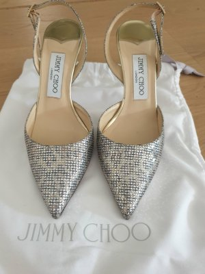 Jimmy Choo Slingback Pumps silver-colored-gold-colored