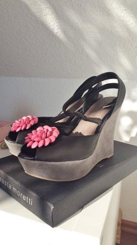 Platform Sandals multicolored leather