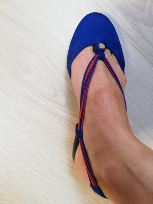 Armani Collezioni Ballerine à bride arrière bleu