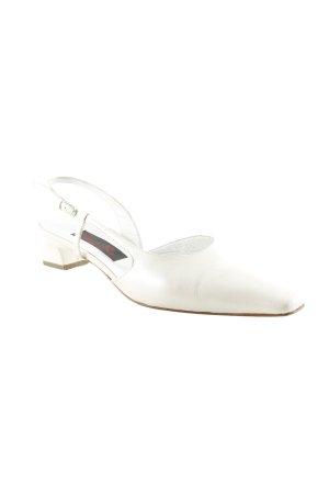 Elena Ricci Ballerina aperta sul tallone beige chiaro stile classico