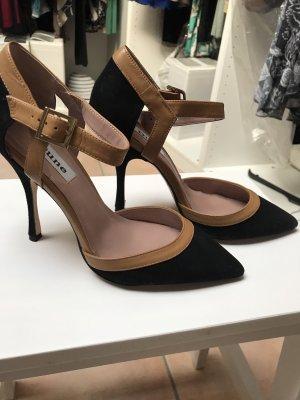 Dune Décolleté modello chanel marrone-nero Pelle