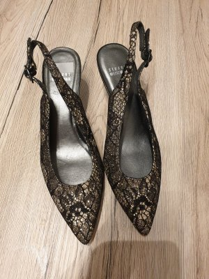 Stuart weitzman Slingback Pumps black-bronze-colored leather