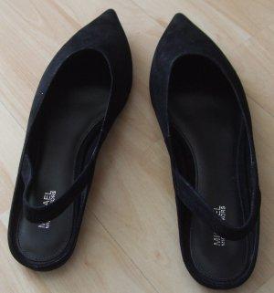 Slingback Slipper von Michael Kors - schwarz - Leder - Gr. 39