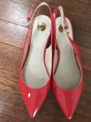 Buffalo Slingback Ballerinas red