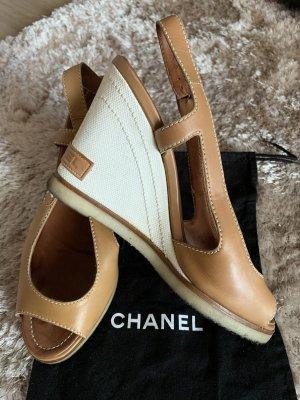 Chanel Slingback Pumps camel-white