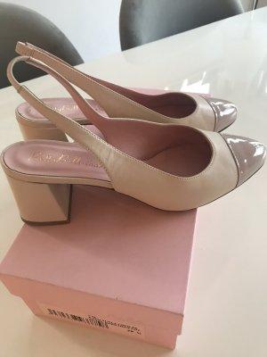Pretty ballerinas Décolleté modello chanel rosa pallido Pelle