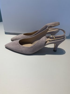 Moda Di Fausto Slingback pumps stoffig roze-rosé Leer