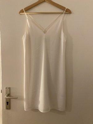 Slip Dress H&M M 38 Weiß Kleid Trägerkleid Basic NEU