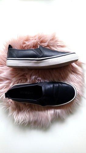 H&M Zapatos formales sin cordones blanco-negro