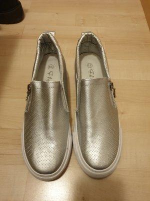 Zapatos formales sin cordones color plata