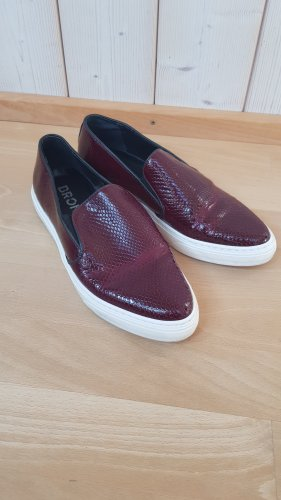 Bronx Slip-on bordeau-brun rouge