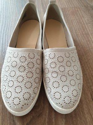 Zapatos formales sin cordones beige claro
