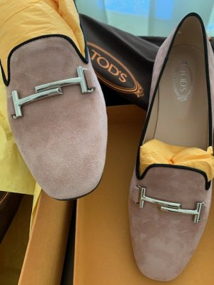 Tod's Babouche or rose cuir