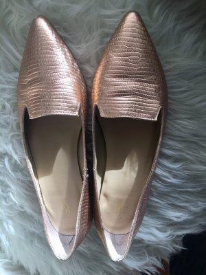 Slipper Ballerina Pumps Bronze Cox Schlangenleder