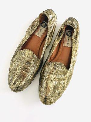 Slipper/ Ballerinas von Lanvin, Gr. 40, gold