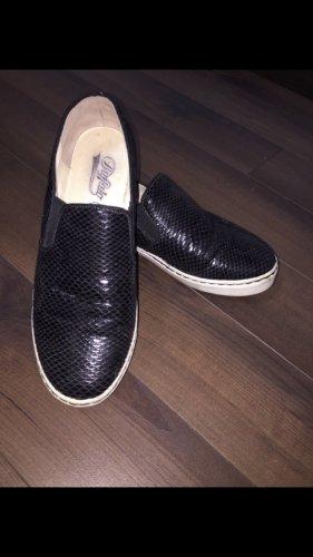 Buffalo Slippers black-white