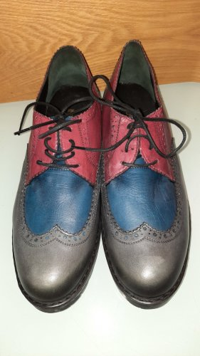 Wingtip Shoes carmine-dark blue