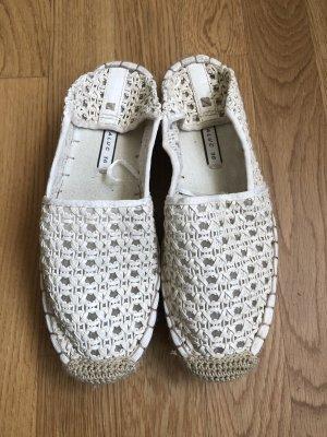 Zara Espadryle biały-w kolorze białej wełny