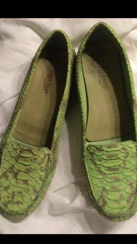 Tremp Mokasyny zielony-zielono-szary Skóra