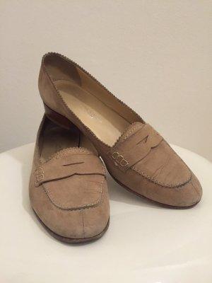 Zapatos formales sin cordones marrón arena