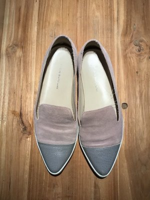 Slipper Loafer Fabio Rusconi bicolor grau/rosa Leder Gr. 38
